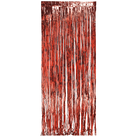 Sparkling Red Metallic Foil Fringe Door Curtain