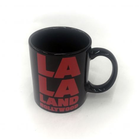 LALA LAND Hollywood black coffee mug