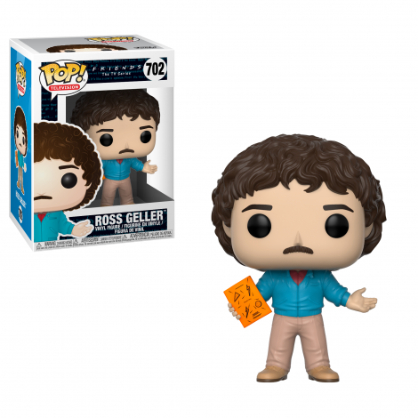 Funko POP TV: 'Friends the TV Show'  Ross Geller 80's Hair Pop! Vinyl
