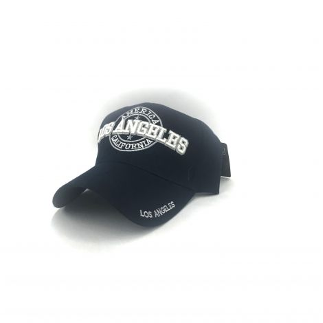 Navy Los Angeles cap with embroidered America California