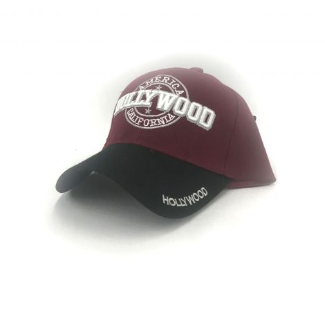 Red and black Hollywood cap