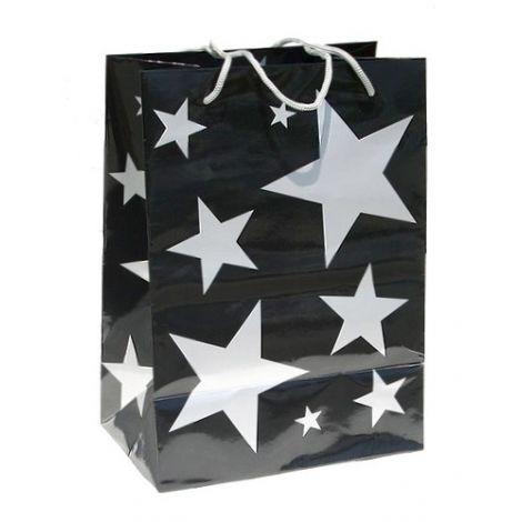Silver Stars Gift Bag