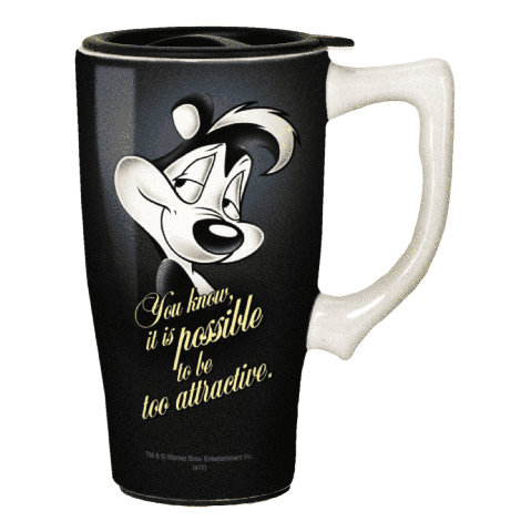 Looney Tunes Pepe Le Pew Travel Mug