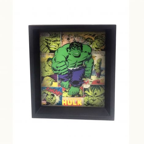 Hulk Comic Panels 8x10 3D Shadowbox