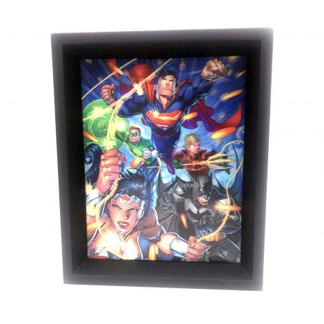 DC Justice League Attack Panels 8x10 3D Shadowbox
