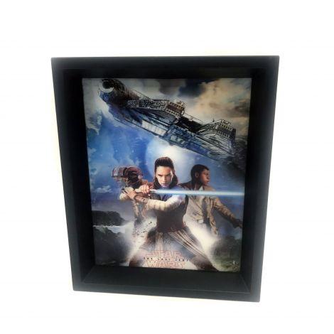 Star Wars TLJ Trio Panels 8x10 3d Shadowbox