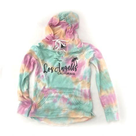 Modern Tie-dye Los Angeles California thin hoodie