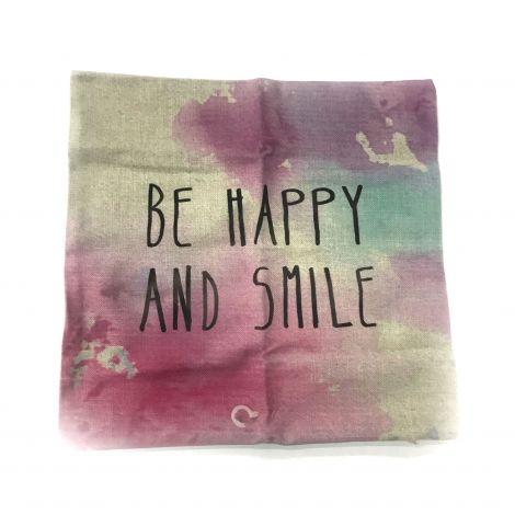 Be Happy and Smile Pillow cushion cover