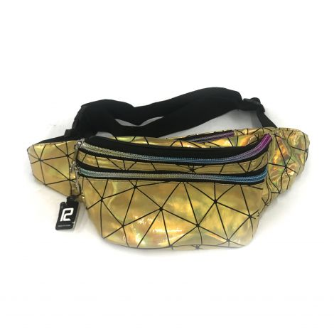 Metallic Color Fanny Packs - Gold with Lines