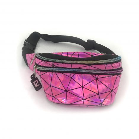 Metallic Color Fanny Packs - Pink And Lines Designs