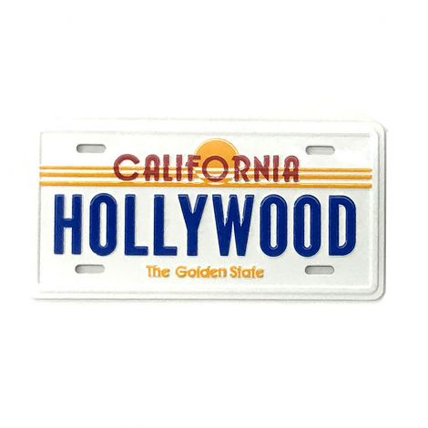 Hollywood License plate magnet