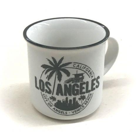 White Los Angeles Espresso shot mug