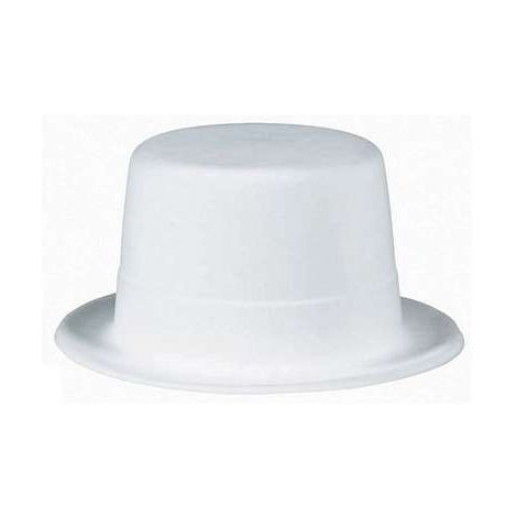 White Felt Top Hat