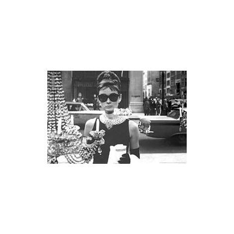 Audrey Hepburn Breakfast at Tiffany's Poster