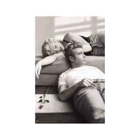 Marilyn Monroe & James Dean Poster