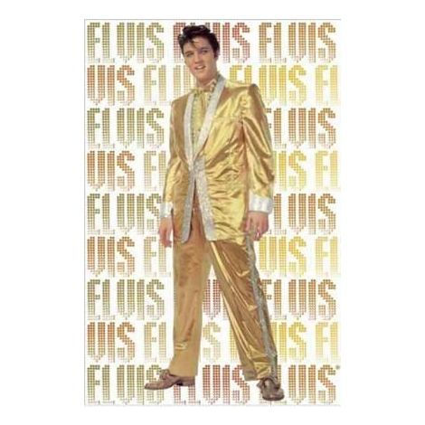 Elvis Presley Gold Suit Poster