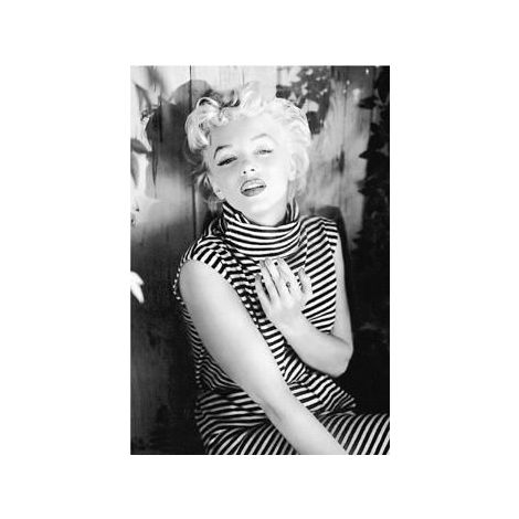 Marilyn Monroe, Striped Shirt Poster