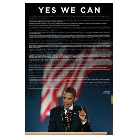 Yes We Can, President Obama Poster