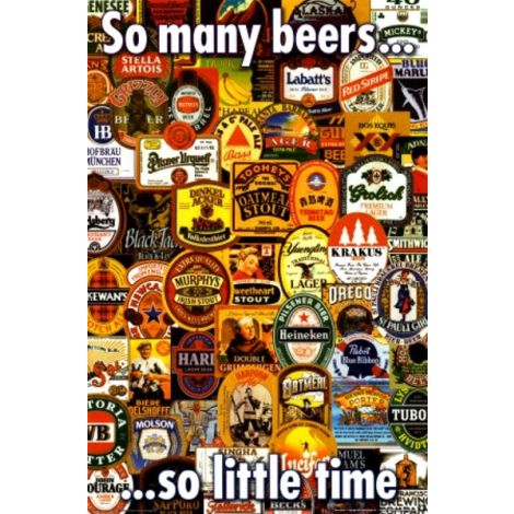 So many beers poster