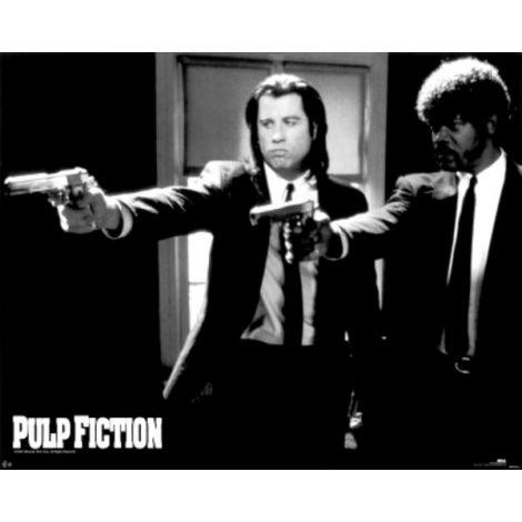 Pulp fiction-Duo guns poster