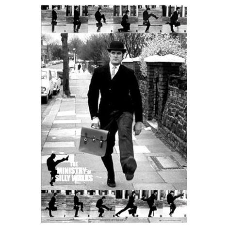 Monty Python - Silly Walks poster