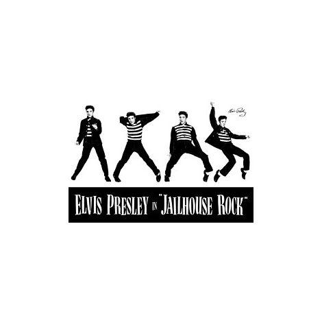 Elvis in Jailhouse Poster.