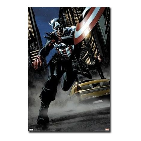 Captain America Comic Poster