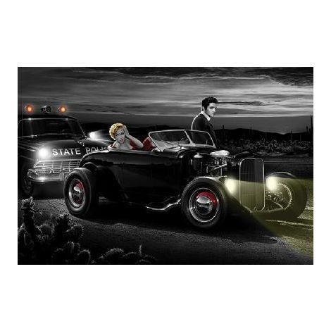 Joyride Marilyn and Elvis Poster