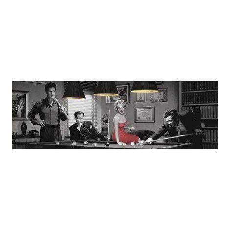 Game Of Fate Marilyn, Elvis, Dean, Bogart Door Poster