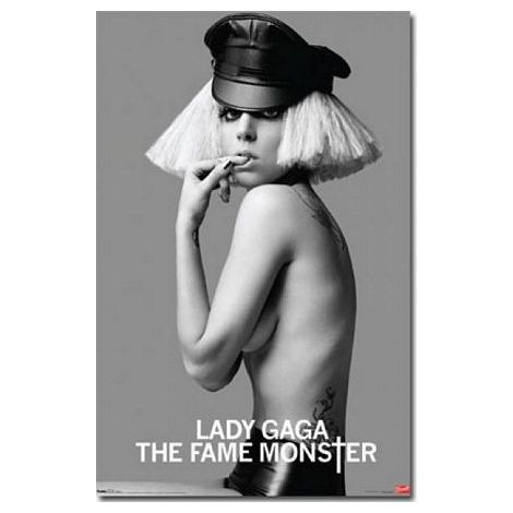 Lady Gaga Black And White Poster