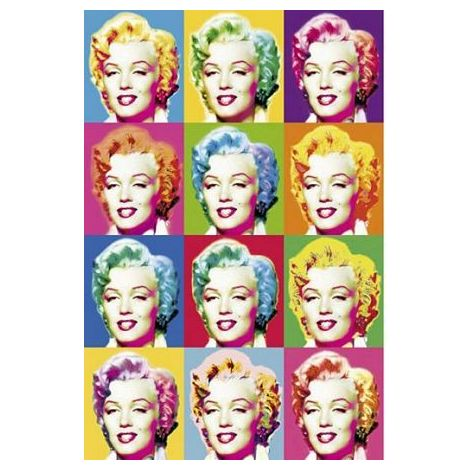 Marilyn Faces Poster