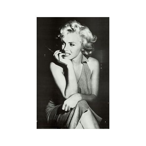 Marilyn Black And White Poster