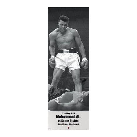 Muhammad Ali Vs Sonny Liston Door Poster