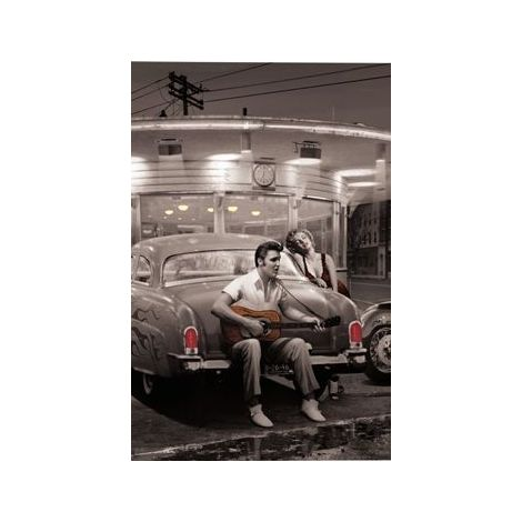 Crossroads Marilyn And Elvis Poster