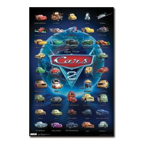 Cars 2 Characters Poster