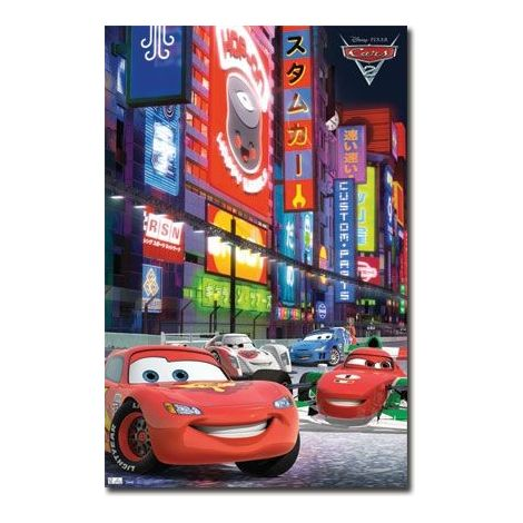 Cars 2 Racing In Tokyo Poster