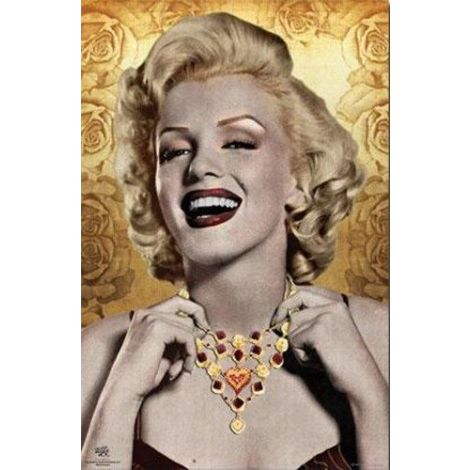 Marilyn Monroe Golden Poster