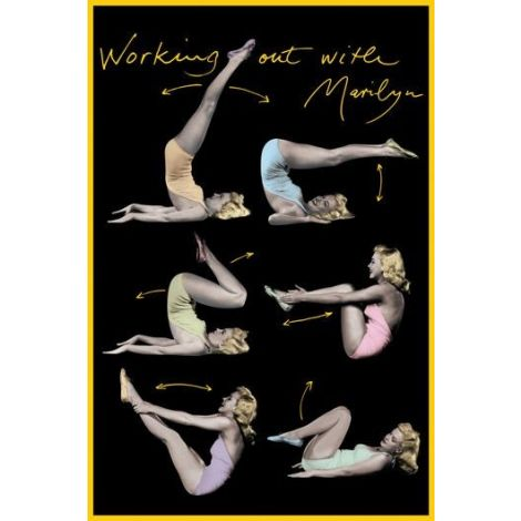 Marilyn Monroe Exercise Poster
