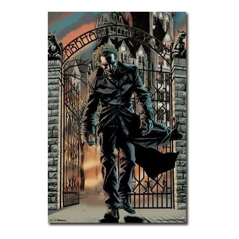 The dark knight rises joker Arkham poster
