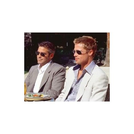 Goerge Clooney and Brad Pitt