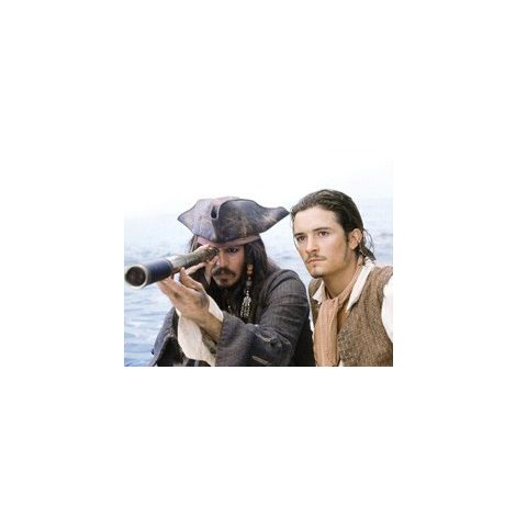 Johnny Depp and Orlando Bloom from Pirates of the Caribbean 2