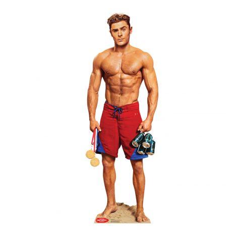 Zac Efron Matt Brody No shirt (Baywatch Movie) 2466