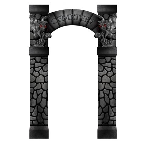 Cemetery Arch Entrance Cutout 2521