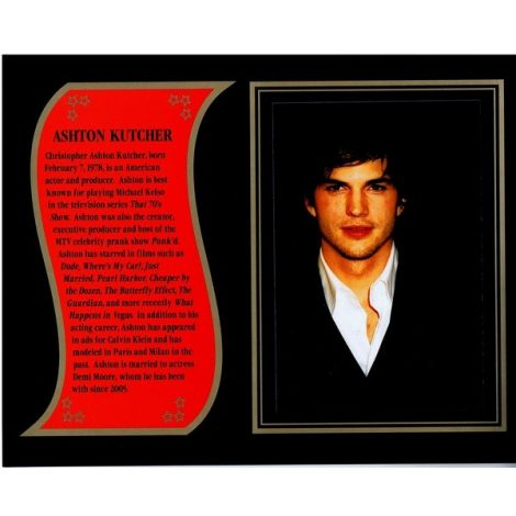 Ashton Kutcher commemorative