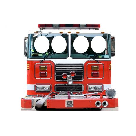 Place Your Face Cartoon Firetruck Standup #2546
