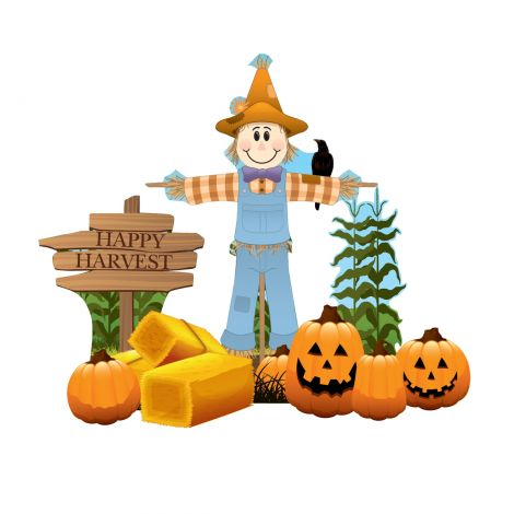 Scarecrow Theme Outdoor Cutout Decor #2633