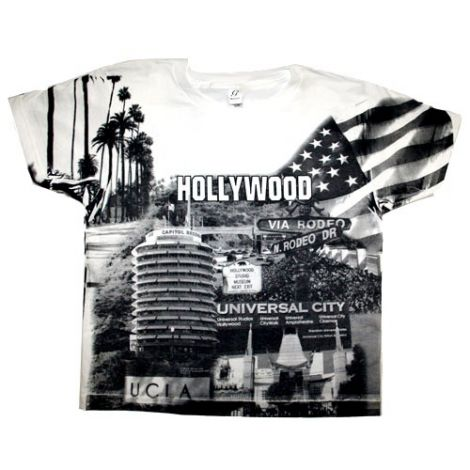 Kids Hollywood  Collage T-shirt (White)