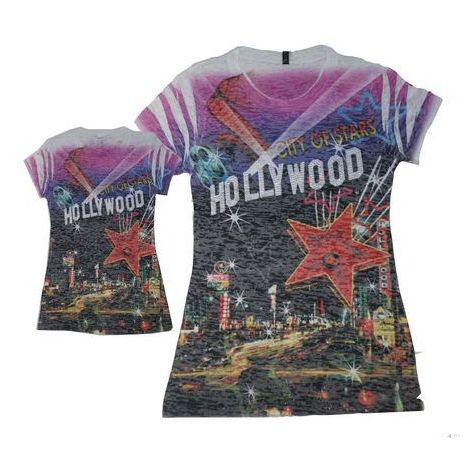 City Of Stars Hollywood T-shirt Petite Size