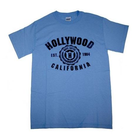 Hollywood In Light Blue T-Shirt