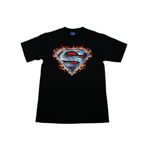Superman Flames logo T-shirt